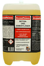 Betonlöser Zementlöser 5 Liter   selbsttätig Korrossionsschutz f. Baumaschinen