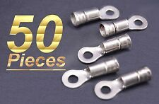 50 TYCO AMP 10-12 AWG Non Insulating Ring Tongue Terminal Cable Lug Part 323067