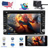 "6.2"" Car Stereo CD DVD Player Radio Touchscreen GPS NAVI 2 DIN w/ Reverse Camera"