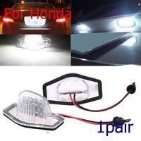 2x Car Auto LED Number License Plate Light Lamp For Honda Jazz/Odyssey/CR-V/FR-V