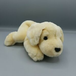 "FAO Schwarz Labrador Lab Puppy Dog Plush Golden Retriever Stuffed Toy Yellow 10"""