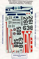 EXPERT-CHOICE 48-52 - DECALS 1/48 F-84E/G AIR NATIONAL GUARD THUNDERJETS OHIO