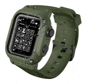 Waterproof Tactical Rugged Apple Watch Band & Case Fits Series: 4 5 6 40mm 44mm