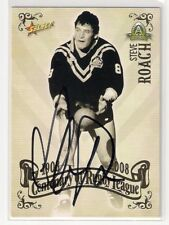 SIGNED STEVE ROACH TIGERS 2008 CENTENARY TOP 100 GREATEST PLAYERS NRL CARD RARE