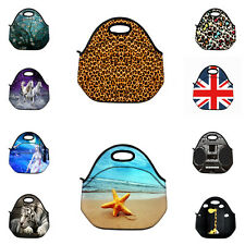 Custom Design Insulated Lunch Tote Portable Bag Neoprene Lunchbox Bag Handbag