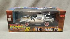 """Delorean Time Machine From """"Back To The Future III"""" Movie 1/18 Diecast Model Car"""