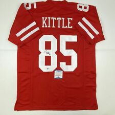 Autographed/Signed GEORGE KITTLE San Francisco Red Football Jersey Beckett COA