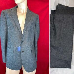 BNWT RALPH LAUREN Black/Grey, 100% Wool 2 Piece Suit 40R. RRP £795