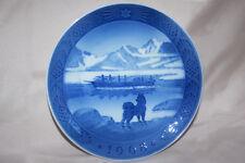 1968 Royal Copenhagen Denmark Christmas Plate The Last Umiak in Greenland