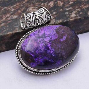 """Purple Turquoise Ethnic Handmade Pendant Jewelry 1.76"""" AP 40600"""