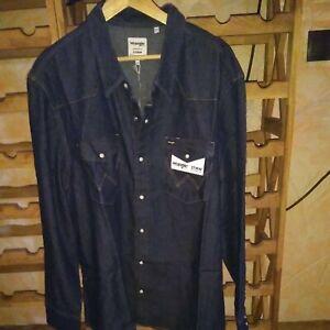 """Wrangler Jeanshemd Gr. XXXL / 3XL in Blau Neu / Jeans """"Top Teil """""""