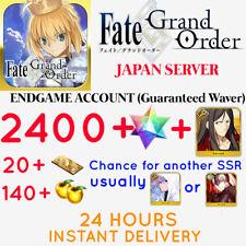 [INSTANT] BUY 2 GET 3 JP 2400+SQ Fate Grand Order Japan FGO Quartz Account