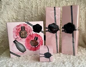 Victor & Rolf LOT Flowerbomb Classic Dew & Nectar EDP + Body Lotion + Shower Gel