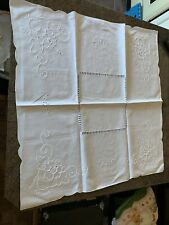 Vintage White Table Cloth And 3 Smaller Cloths