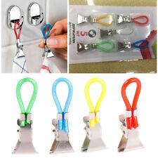 Portable 5pcs Tea Towel Hanging Clips Clip on Hook Loops Hand Towel Hangers R9Pl