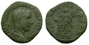 Gordian III A.D. 238-244 Æ Sestertius 29 mm 16.84 gm. 12h Rome mint A.D. 240 VF