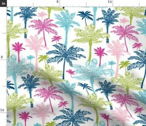 Palm Tree Nature Garden Forest Tropical Vacation Spoonflower Fabric by the Yard