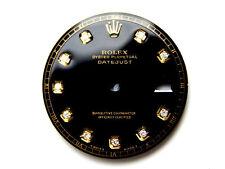 Men's Rolex Datejust 2Tone Non-Quickset 1601 Black Color with Diamond Dial