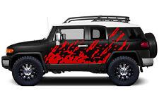 Custom Vinyl Decal Burst Wrap Kit for Toyota FJ Cruiser Parts 07-14 Dark Red