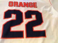 Nike Syracuse Team Issued Lacrosse Jersey Sublimated Mens L White/Orange #22