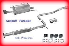 Abgasanlage Schalldämpfer Auspuff Nissan Almera I STUFENHECK 1.4 & 1.6 (N15)+Kit