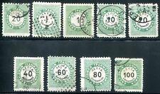 GRIECHENLAND PORTO 1875 5,11,21,23 etc gestempelt ca 120€(D4553