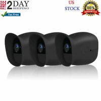 3 Pack Silicone Case Skins For Arlo Pro Security Camera Durable Covers Black New