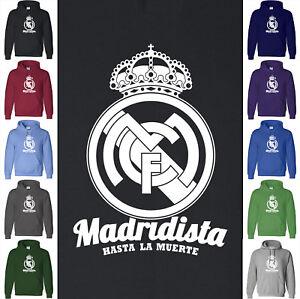 MADRIDISTA Real Madrid Hoodie Sweatshirt Hasta Muerte Ronaldo Benzema Bale BBC