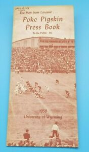 WYOMING COWBOYS - COLLEGE FOOTBALL MEDIA GUIDE - 1956 - NEAR  MINT