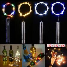 6x 20 LED Weinflasche Kork Flaschenlicht Lichterkette Beleuchtung Batterie Deko1