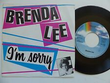 BRENDA LEE I'm sorry / sweet nothin's 101789 FRANCE Discotheque RTL