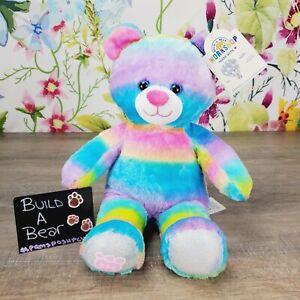 Build A Bear Rainbow Cub Bear Plush NEW BAB Stuffed Animal