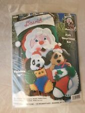 Design Works Crafts Felt Stocking Kit 5049 Puppy Pals Santa & Puppies New
