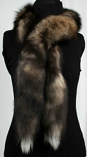 2004 Real Canadian Genuine Fur Boa Wildcross Foxes Fur Scarf Natural Fur Shawl