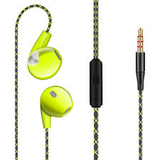 3.5mm In-Ear Earphones Bass Stereo Headphones Headset Earbuds With Green Color