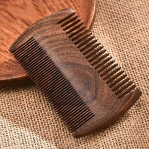 Beard Hair Combs 2 Size Handmade Natural Wood Comb New Green Sandalwood Pocket