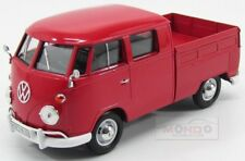 Volkswagen T1 Double Cabine Pick-Up 1967 Red Motormax 1:24 MTM79343R