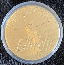 AMERICAN SYMBOLS-LIBERTY COMMEMORATIVE COIN, AMERICAN MINT-2015, Gold Layered