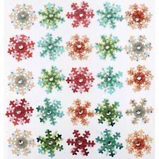 SNOW WINTER Snowflakes Flakes Crystal Flake Jolee's Repeat Stickers Scrapbook