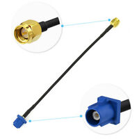 SMA plug to Fakra male C Blue pigtail jumper Cable RG174 15cm for GPS telematics