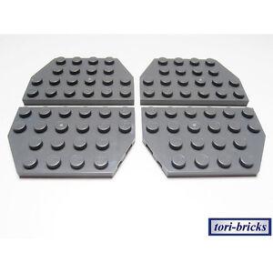 Lego Flügel / Keil Platte 4x6 dunkel grau 4 Stück »NEU« # 32059