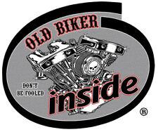 LUCKY 13 OLD BIKER INSIDE STICKER OUTLAW BIKER DON'T BE FOOLED OLD BIKER INSIDE