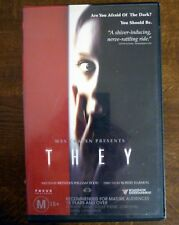 THEY Roadshow Entertainment VHS PAL Horror Video Tape Laura Regan, Marc Blucas