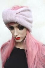Pink Chunky Knit 50s Vtg Winter Headband Dread Grunge Hippy Hippy Festival