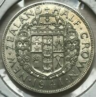 1941 New Zealand 1/2 Crown - Beautiful Uncirculated
