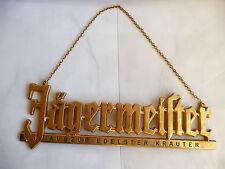 Jagermeister metal sign chain Auszug Edelster Krauter  used rare