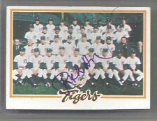 1978 Topps Baseball Ralph Houk Autographed Tigers Team Card PSA/DNA Cert (CSC)