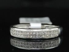 Wedding Band Engagement Bridal Ring Set Ladies Womens 10K White Gold Diamond