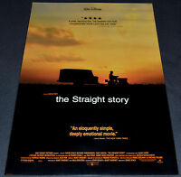 David Lynch's THE STRAIGHT STORY 1999 ORIGINAL DS 27x40 ONE SHEET MOVIE POSTER!