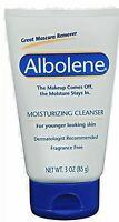 Albolene Moisturizing Cleanser Cream Unscented Mascara Makeup remover 3 oz.